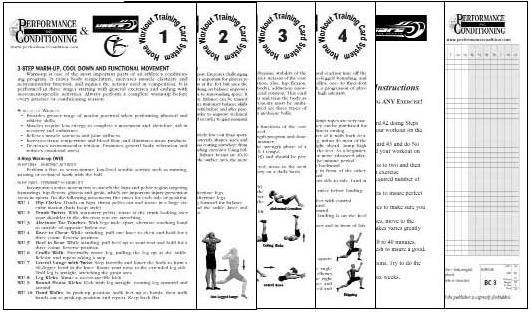 Artistic Off-skate Home Workout Training Card System – Paper